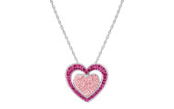 Crystaluxe Double Heart Pendant