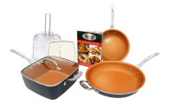 Gotham Steel Titanium Ceramic Pan 7-Piece Set