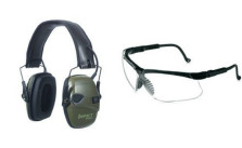 Pack of 2 Honeywell Classic Green Earmuffs with Two Safety Eyewear