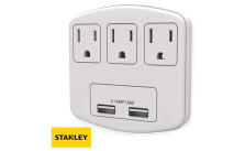 Stanley® PlugMax 3-Outlet with USB Wall Adapter