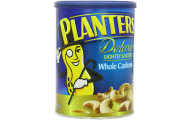 Planters Deluxe Whole Cashews Canister