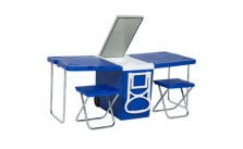 Rolling Cooler W/ Table And Chairs
