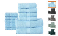 12-Piece 100% Combed Cotton 600GSM Towel Set