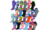 24 Pairs Cotton-Blend Ankle Socks