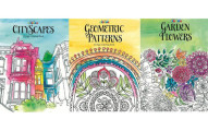 3-Piece Adult Coloring Book Collection