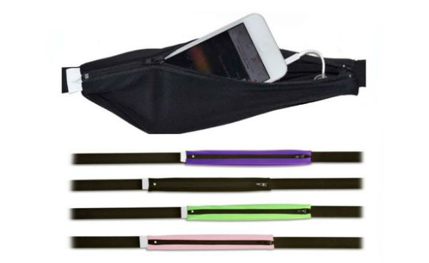 Expandable Running Belt with Phone Pouch and Cable Eyelet