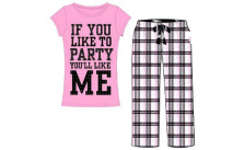 Emme Jordan Cotton 2-Piece Long Ladies Pajama Set