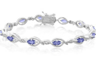2.65 Carat Tanzanite and Diamond Bracelet