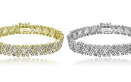 1.00 CT TDW Diamond Chevron Bracelet
