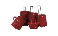 American Flyer Pemberly 5 Piece Buckles Luggage Set