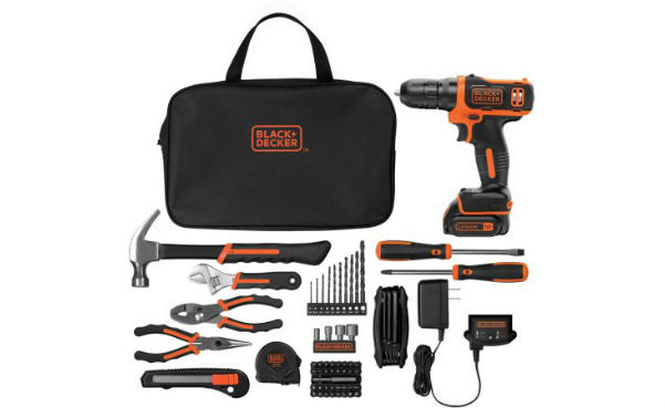 Black and Decker Drill with 64-Piece Project Kit