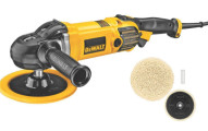 DEWALT Variable Speed Polisher with Wool Buffing Pad