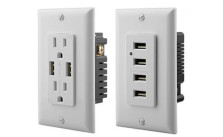 Ora 4.2-Amp Wall Power Outlets with USB Ports