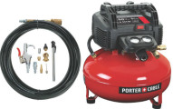 PORTER-CABLE Pancake Compressor with Accessory Kit