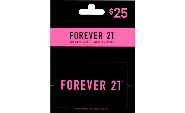 Win a $25 Forever 21 Gift Card