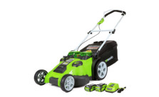GreenWorks Twin Force 20-Inch Cordless Lawn Mower