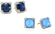 Judith Ripka Cushion Stone Stud Earrings