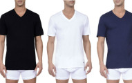 Nautica Mens V-Neck T-Shirt 3-Pack