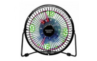 Sharper Image Oscillating LED Clock Fan and Digital Thermometer