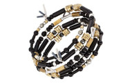 Silpada 'Nightfall' Beaded Wrap Bracelet