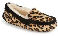 UGG Women's Ansley Calf Hair Leopard Slippers