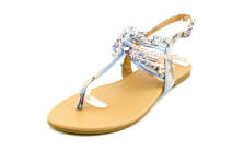 Famous Name Brand Sandy Women Open-Toe Canvas