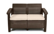 Keter Corfu Love Seat Outdoor Patio Garden Furniture