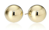 14k Yellow Gold Ball Stud Earrings
