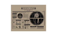 "Inked and Screened ""Star Wars Death Star Infographic"" Poster"