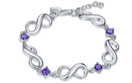Jewelry Elements Infinity Bracelet with Swarovski Crystals