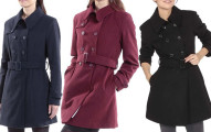 Keira Women's Wool Double Breasted Belted Trench Coat