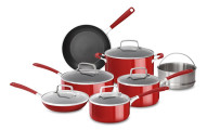 KitchenAid Aluminum Nonstick 12 Piece Cookware Set