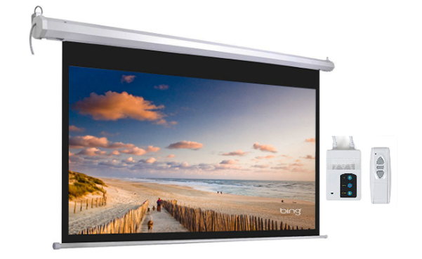Motorized Home Theater Movie Projection Screen