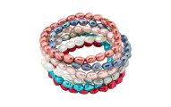 honora-set -7- multi-color-baroque-pear-stretch-bracelets