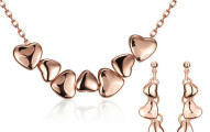 Swarovski 18K Gold Plated Connecting Hearts Set