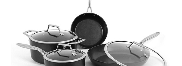 7-PC TECHEF Onyx Collection Nonstick Cookware Set