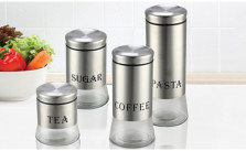8 PC Stainless Steel Canister Set