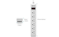 BESTEK 6-Outlet Surge Protector Power Strip