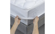 Cooling Mattress Pad with Fitted Skirt
