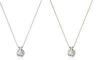 Solitaire Swarovski Zirconia Pendant Necklace