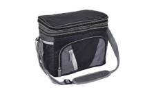 Goplus 12 Can Double-layer Cooler Bag Ice Pack Lunch Container Zipper Shoulder Straps