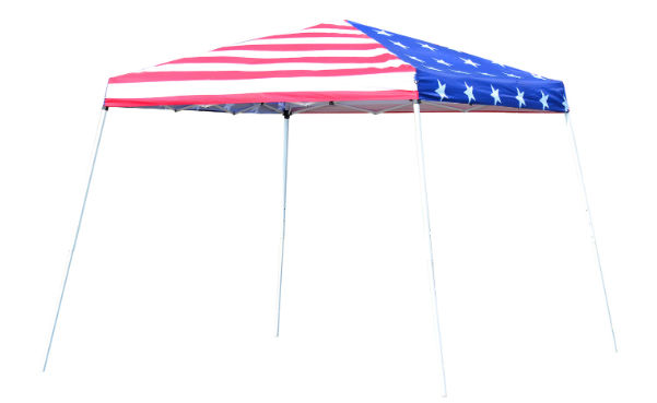 Outsunny 10' x 10' Slant Leg Pop-Up Canopy Shelter Party Tent