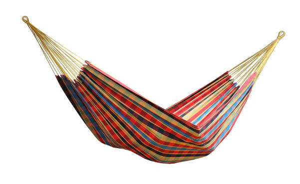 Vivere Brazilian Style Double Hanging Outdoor Cotton Hammock