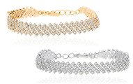5-Row Tennis Bracelet with Swarovski Crystals
