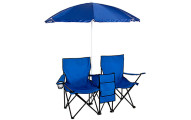 Picnic Folding Chair with Umbrella Table Cooler