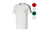 adidas Men's 3 Stripe Short Sleeve T-Shirt