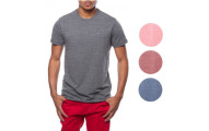 Tommy Hilfiger NEW Heather Logo Basic Crewneck Tee T-Shirt