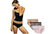 3 Pairs: Ladies Hanes Ultimate Perfect Stretch Hipster Panties