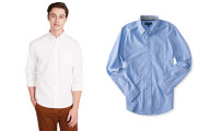 Aeropostale Mens Long Sleeve Stretch Oxford Woven Shirt