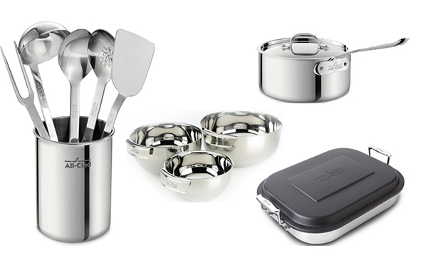 All-Clad Stainless Steel Pans & Kitchen Accessories